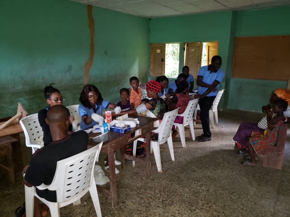 Villagers arrival for registration, counseling and medical at Laleye