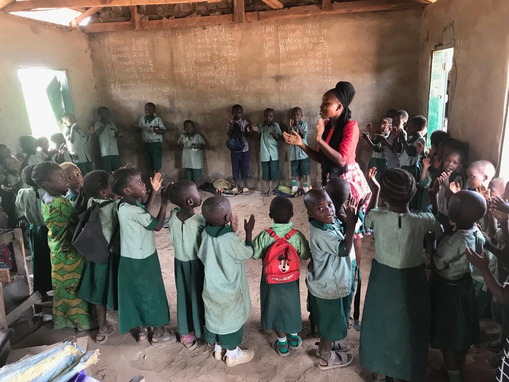 literacy mission at Laleye